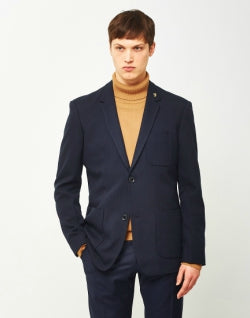 FARAH Lake Hopsack Mens Blazer Navy