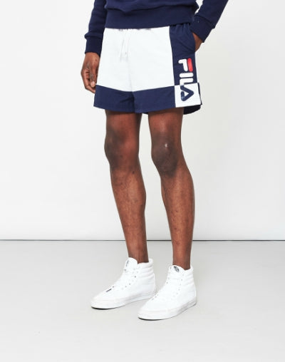 FILA Cut Sew Swim Short White mens