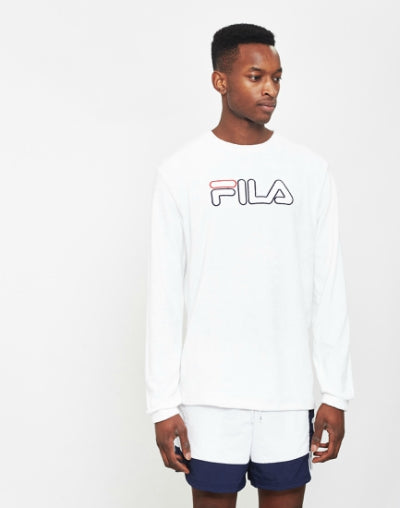 FILA Towelling Sweatshirt White mens
