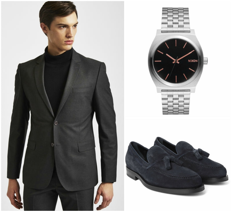 Formal suede shoe outfit