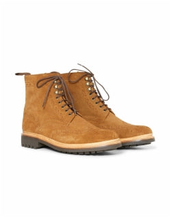 GRENSON Fred Boot Suede Brown Mens