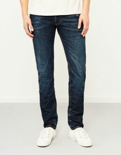 HAWKSMILL 14oz Organic 6 Months One Wash Slim Tapered Fit Jeans mens
