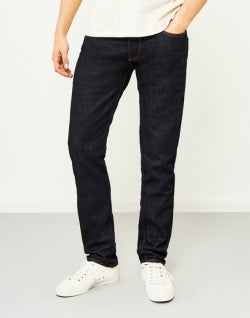 HAWKSMILL 14oz Organic Crinkle Rinse Slim Tapered Fit Jeans mens