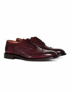HUDSON Heyford Calf Brogue Brown mens