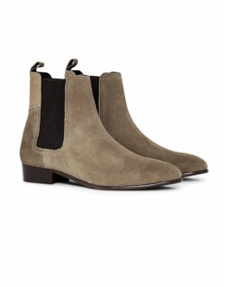 HUDSON Mens Watts Suede Chelsea Boot Grey