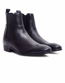 HUDSON Watts Calf Boot Black mens