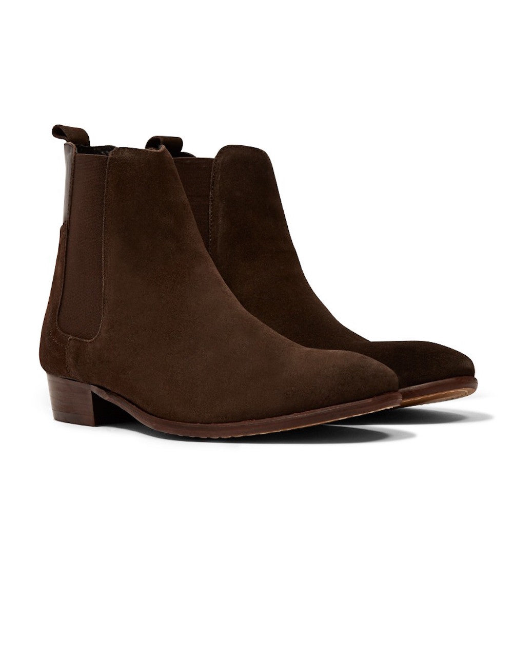 hudson watts suede boot brown men