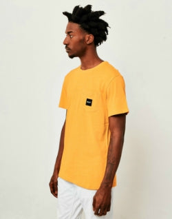 HUF Heather Box Logo Pocket T-Shirt Yellow mens