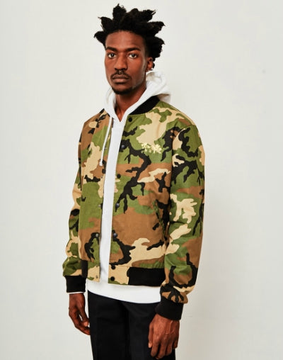 HUF Kingston Bomber Jacket Camo mens
