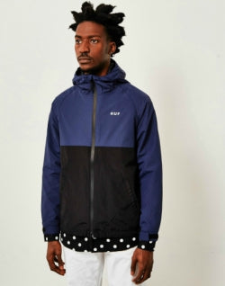 huf standard shell jacket navy for men