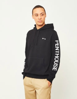 HUF X Penthouse Pullover Hoodie Black mens