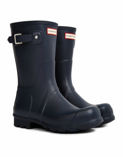 HUNTER Original Short Rain Boot Navy mens