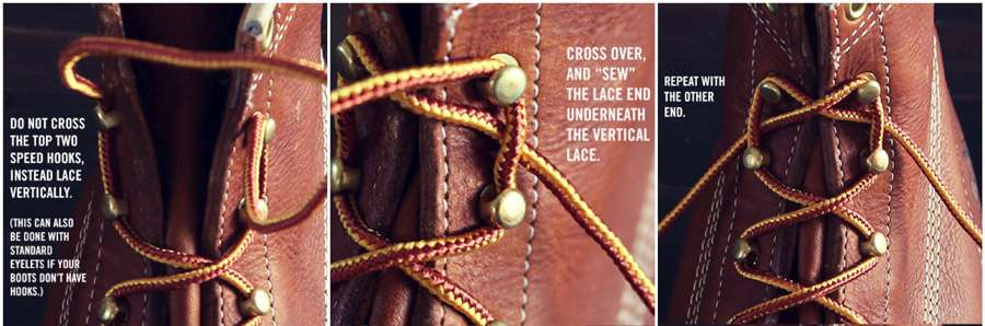 How Lace Boots Properly Shoelaces Shoes Tie Steps Guide Men Fashion Style