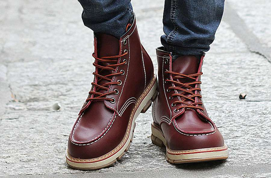 6fbf507ef8bcff How Lace Boots Properly Shoelaces Traditional Lace Pattern Men Fashion Style