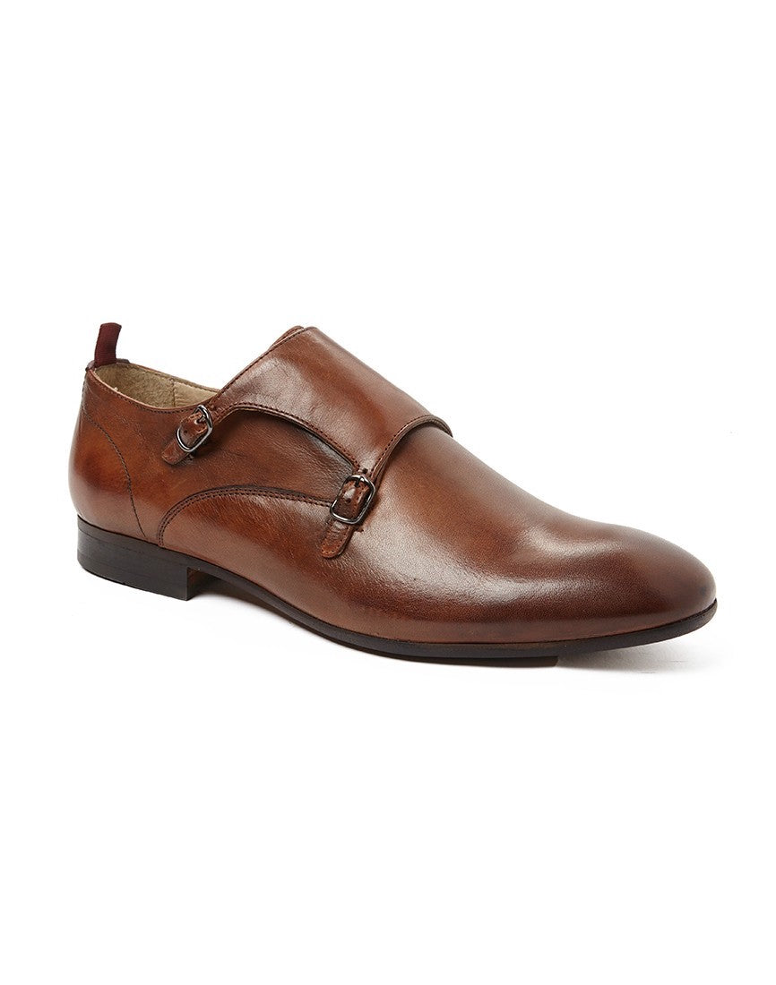 hudson mens brown monk shoes