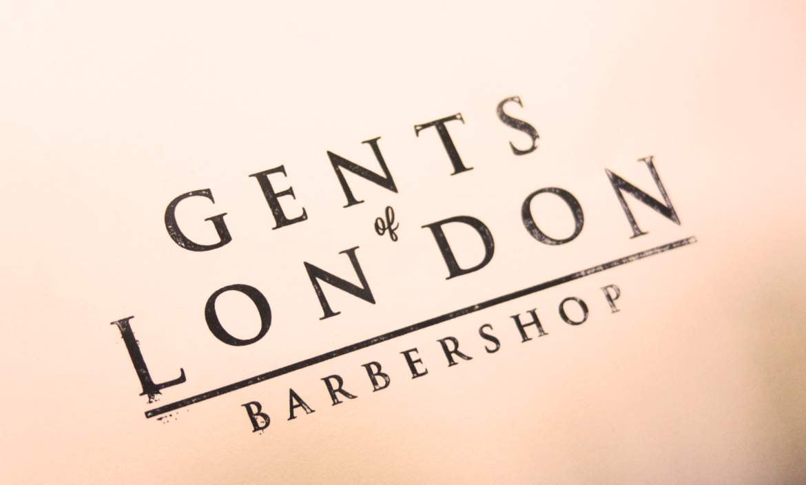Gents Of London Barbershop Sign