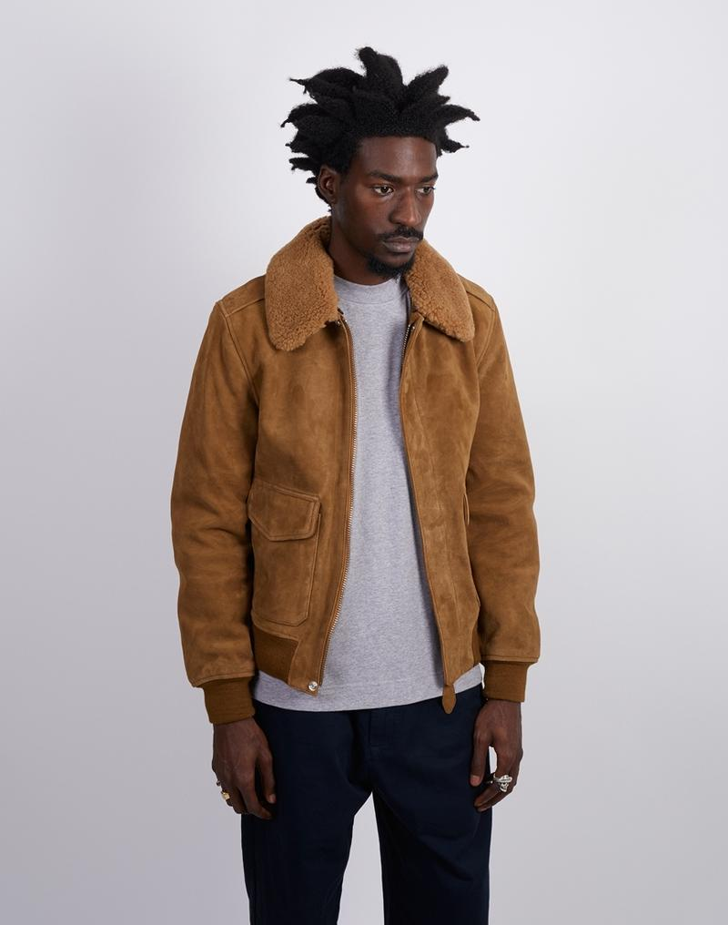 3a5a7467d2d3 A suede jacket can be worn with smart trousers for a formal look