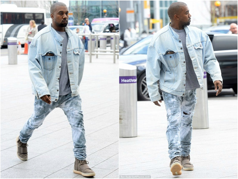 kanye west double denim jeans