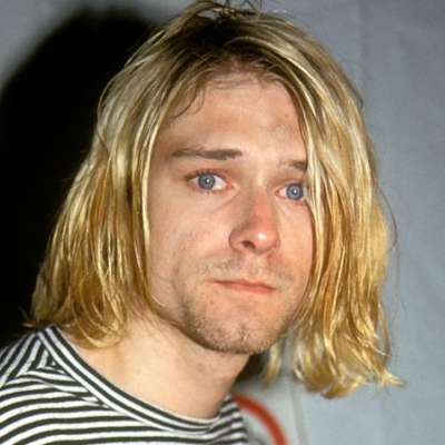 Kurt Cobain mens curtain haircut