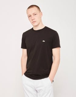 LACOSTE Crew Neck T-Shirt Black Mens
