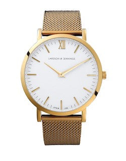 LARSSON JENNINGS Lugano 40mm Gold Chain Metal Watch mens