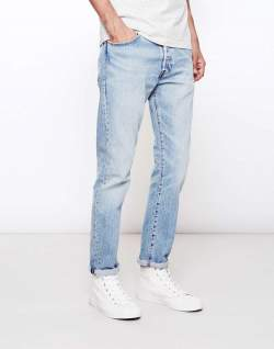 levis 501 customized and tapered hillman blue jeans men
