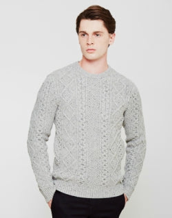 LEVIS Fisherman Cable Crew Jumper Grey mens