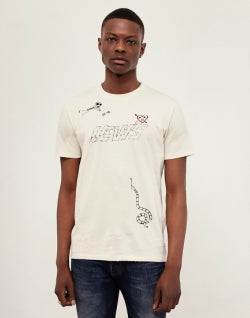 LEVIS Red Tab Drawn Graphic T-Shirt Off White mens