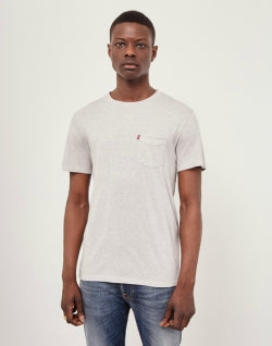 LEVIS Red Tab Set-In Sunset Pocket Shirt Grey mens
