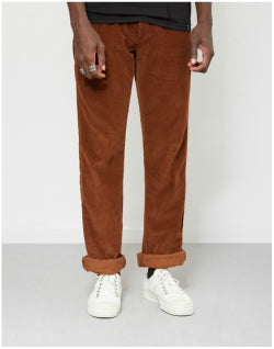 LOIS JEANS New Dallas Jumbo Cord Trousers Brown Mens