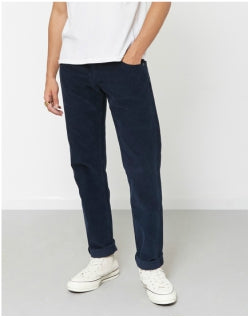 LOIS JEANS Sierra Thin Corduroy Trousers Navy Mens