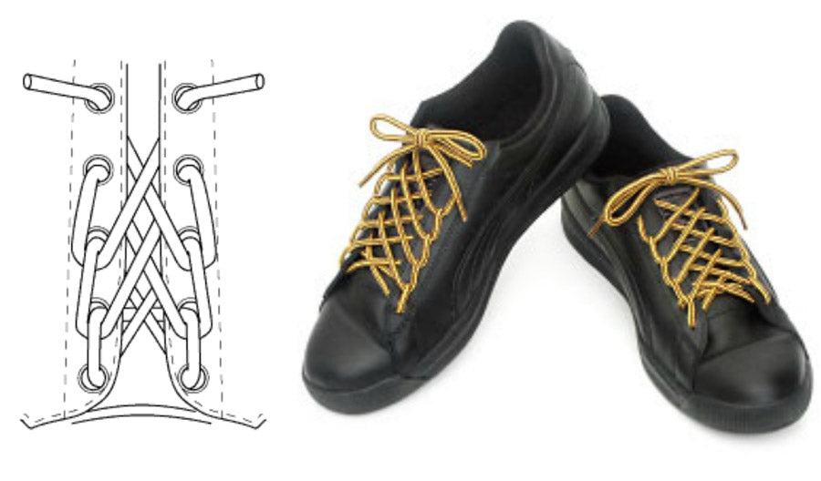 8dc94733608e0e Lace Boots Spiderweb Lacing Pattern Shoelaces Men Fashion Style