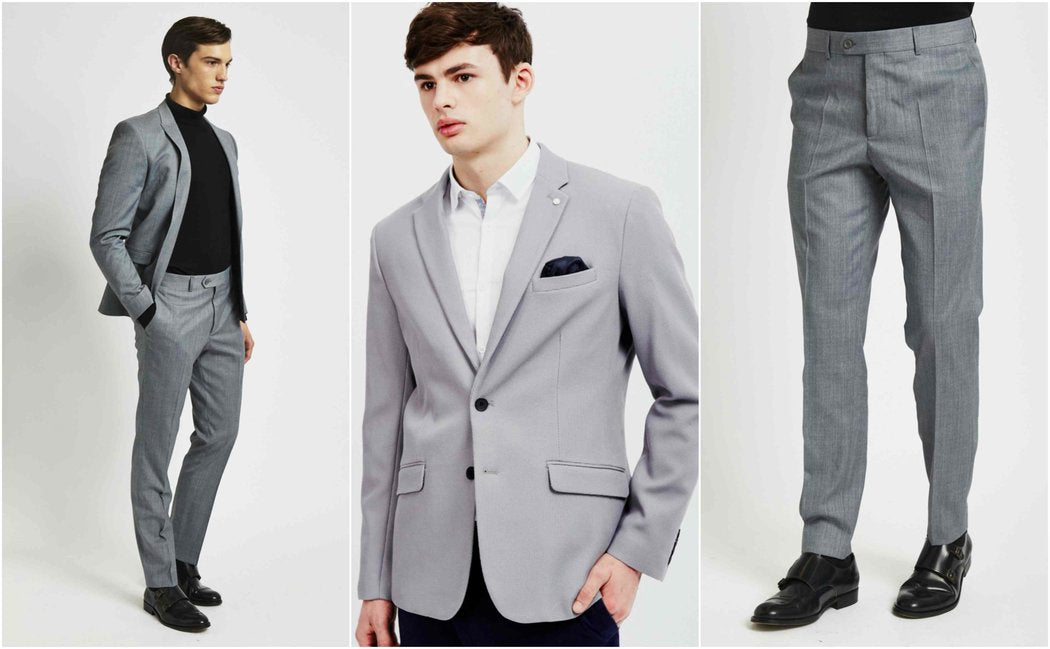 Light Grey Suit Outfit Grid