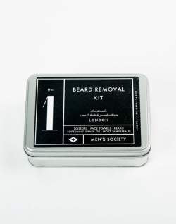 MENS SOCIETY Grooming Beard Removal Kit Black mens
