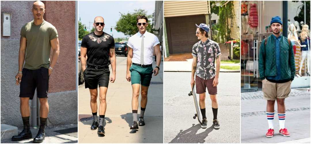 Mens Long Socks with Shorts Street Style