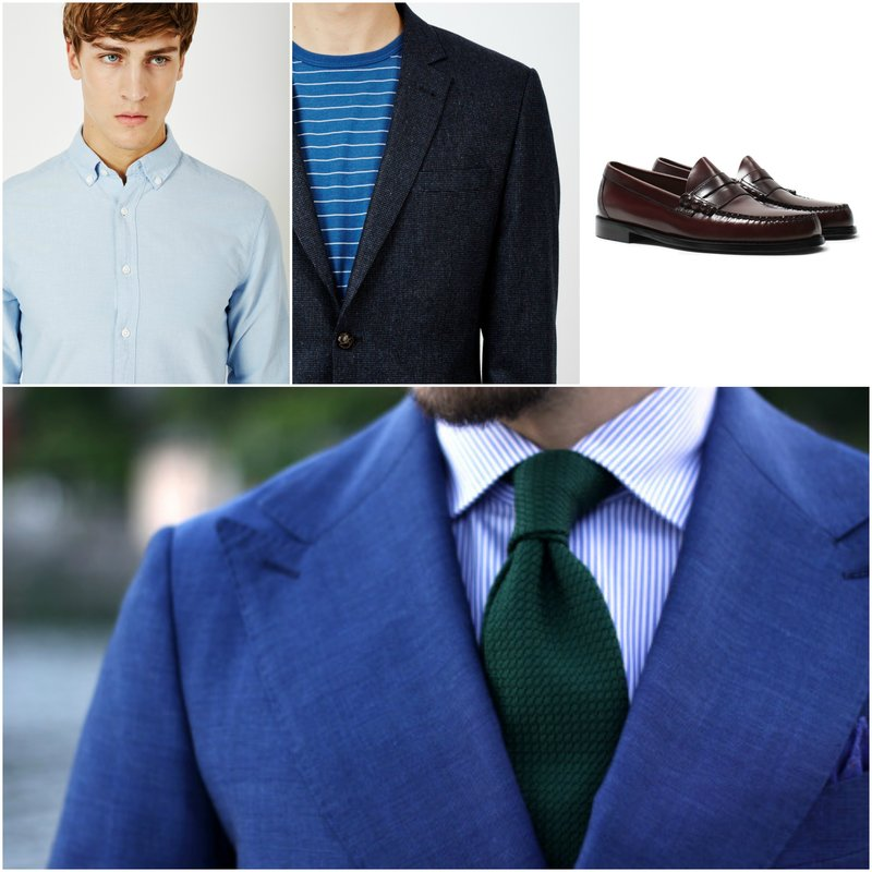Shirt And Tie Combinations With A Patterned Suit