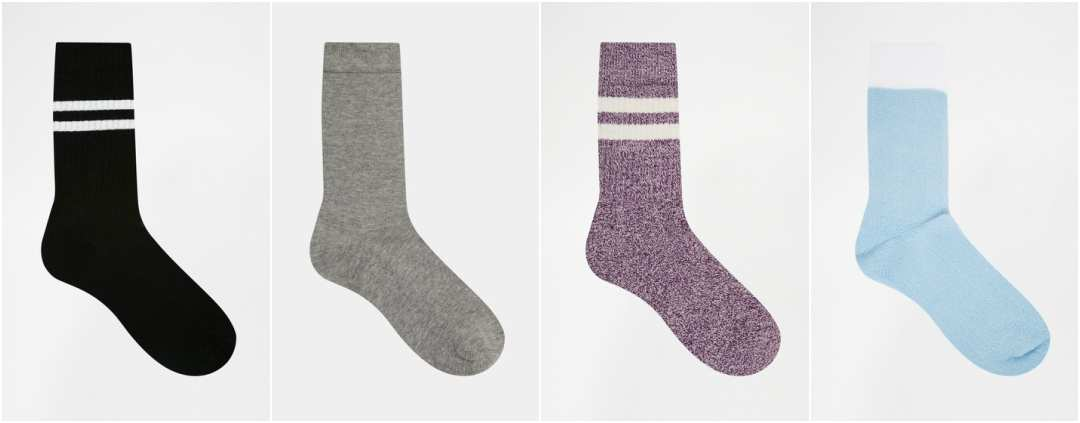 Mens Plain Socks in Various Colours