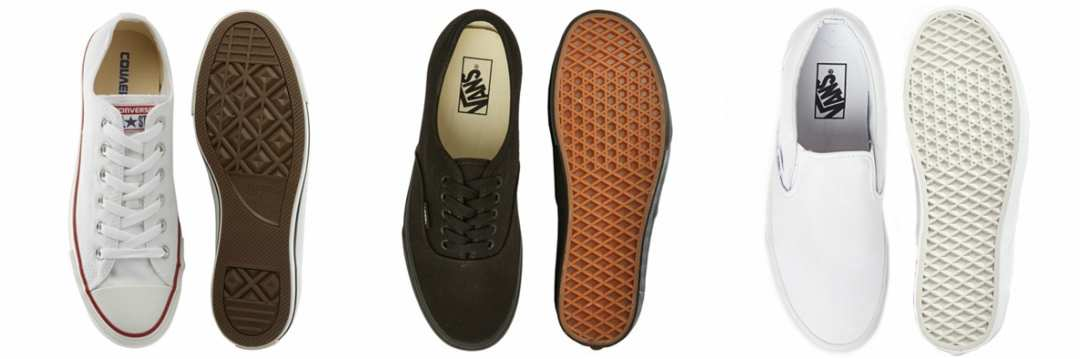 Mens Plimsolls Converse and Vans