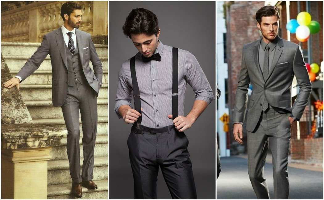 Mid Grey Suit Outfit Grid