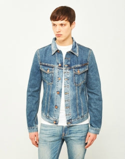 NUDIE JEANS CO Billy Denim Jacket Crunch Blue mens
