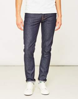 NUDIE JEANS CO Grim Tim Dry Open Navy Jeans