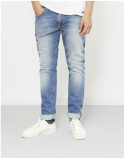 NUDIE JEANS CO Lean Dean Crinkle Jeans Blue Mens