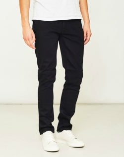 NUDIE JEANS CO Lean Dean Dry Cold Mens Black Jeans