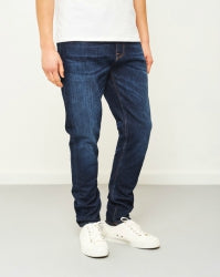 NUDIE JEANS CO Mens Brute Knut Blue Swede Jeans
