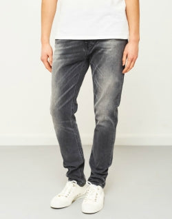 NUDIE JEANS CO Mens Brute Knut Grey Ring Jeans
