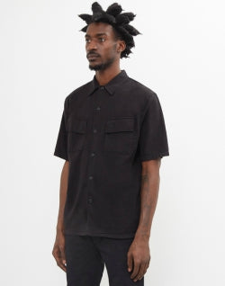 NUDIE JEANS CO Mens Svante Over Dyed Shirt Black