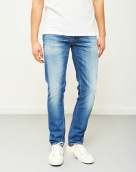 Nudie Grim Tim Orange Cloud Jeans Blue