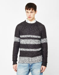 ONLY & SONS Callan Mens Knitted Jumper Grey