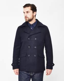 only & sons jormun peacoat navy mens