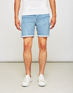 ONLY & SONS mens Loom Denim Shorts Blue